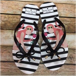 Kate Spade Nova Striped Monkey Flip Flop Sandals